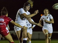 Eleanor Perry in action, Army Women v U20 England Women at the Army Rugby Stadium, Aldershot, England, on 16th February 2017. Final score 15-38.