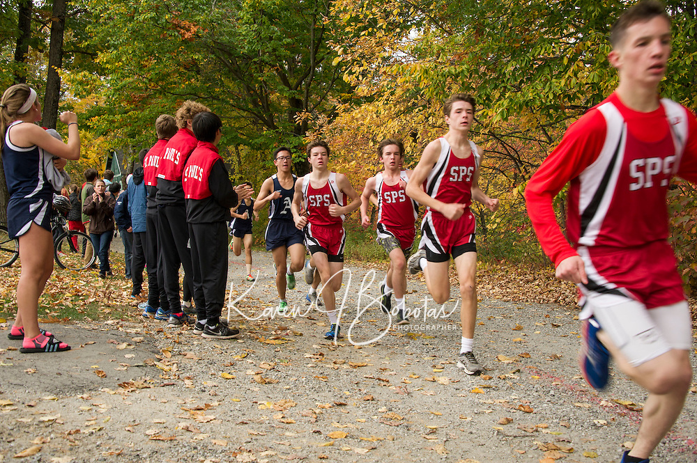 St Paul's School Cross Country meet with Thayer and Andover.  ©2105 Karen Bobotas Photographer