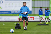 Forest Green Rovers assistant manager, Scott Lindsey during the Vanarama National League match between Forest Green Rovers and York City at the New Lawn, Forest Green, United Kingdom on 20 August 2016. Photo by Shane Healey.