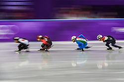 February 17, 2018 - Pyeongchang, Gangwon, South Korea - Yuri Confortola of  Italy  competing  at Gangneung Ice Arena, Gangneung, South Korea on 17 February 2018. (Credit Image: © Ulrik Pedersen/NurPhoto via ZUMA Press)