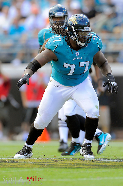 Jacksonville Jaguars guard Uche Nwaneri (77) during the Jags game against the Cleveland Browns at EverBank Field on Nov. 21, 2010 in Jacksonville, Florida...©2010 Scott A. Miller