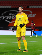 Asmir Begovic (1) of AFC Bournemouth during the EFL Cup match between Bournemouth and Crystal Palace at the Vitality Stadium, Bournemouth, England on 15 September 2020.