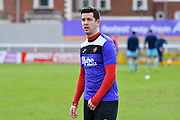 Lloyd James (4) of Exeter City warming up before the EFL Sky Bet League 2 match between Exeter City and Wycombe Wanderers at St James' Park, Exeter, England on 10 February 2018. Picture by Graham Hunt.