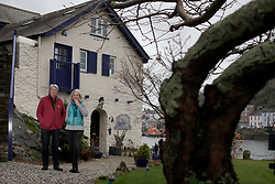 UK ENGLAND FOWEY 19FEB15 - Kits Browing, son of Daphne du Maurier and Tatiana De Rosnay (R) at his house Ferryside in Fowey, Cornwall, England. <br /> <br /> Fowey, a small fishing and harbour village was the living place of famous English writer Daphne Du Maurier and many of her novels are based here.<br /> <br /> jre/Photo by Jiri Rezac<br /> <br /> © Jiri Rezac 2015