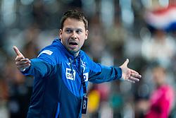 30-11-2019 JAP: Netherlands - Slovenia, Kumamoto<br /> First day 24th IHF Womenís Handball World Championship, Netherlands lost the first match against Slovenia with 26 - 32. / Coach Uros Bregar of Slovenia