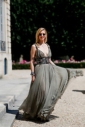 Street style, Chiara Ferragni arriving at Dior Fall-Winter 2018-2019 Haute Couture show held at Musee Rodin, in Paris, France, on July 2nd, 2018. Photo by Marie-Paola Bertrand-Hillion/ABACAPRESS.COM