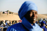 Festival au Désert, tuareg men waiting for the beginning of the concert