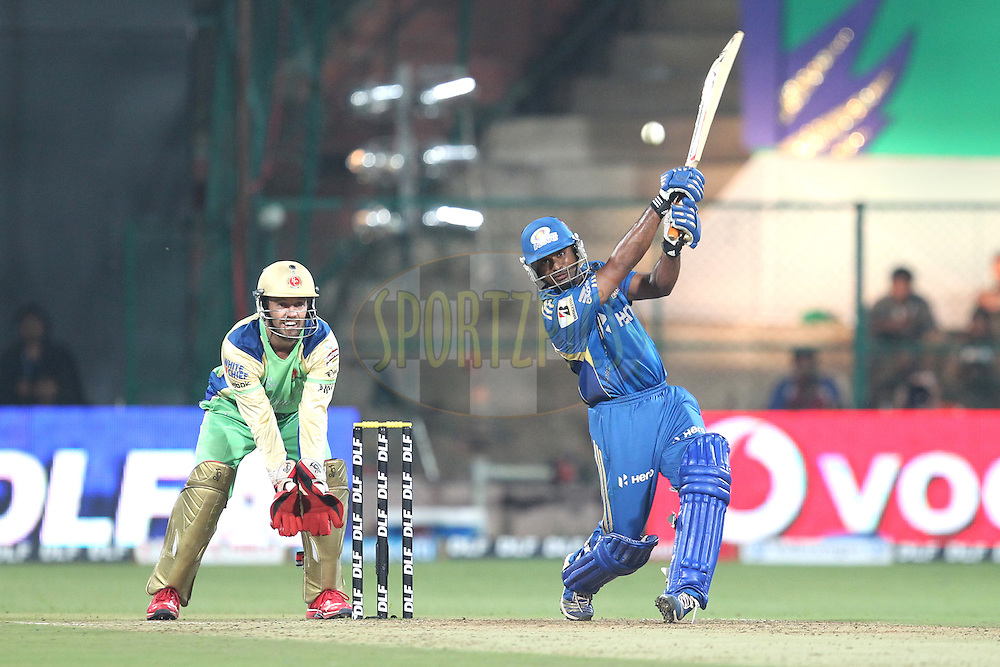 A. Rayadu during match 62 of the the Indian Premier League ( IPL) 2012  between The Royal Challengers Bangalore and the Mumbai Indians held at the M. Chinnaswamy Stadium, Bengaluru on the 14th May 2012..Photo by Prashant Bhoot/IPL/SPORTZPICS