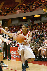Dana Ford<br /> <br /> 03 December 2005: The Illinois State Redbirds shot a stunning 61% in the 2nd half as the University of Wisconsin Phoenix fell to the hosts  59-51during the late afternoon game at Redbird Arena in Normal IL