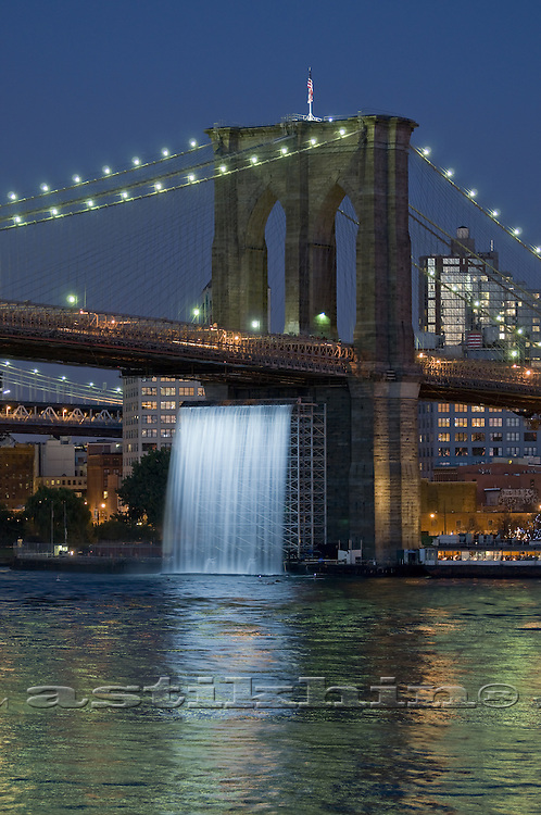Man-made waterfall