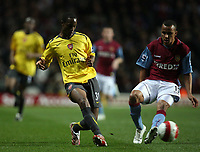 Photo: Rich Eaton.<br /> <br /> Aston Villa v Arsenal. The Barclays Premiership. 14/03/2007. Justin Hoyte left of Arsenal and Gabriel Agbonlahor of Aston Villa