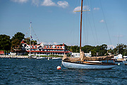 Danae on her mooring. Larchmont Yacht Club.