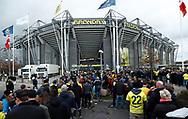 FODBOLD: Kø foran Brøndby Stadion før kampen i ALKA Superligaen mellem Brøndby IF og FC København den 17. april 2017 på Brøndby Stadion. Foto: Claus Birch