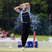 Aimee Mason bowling  during the match between England and New Zealand in the Super 6 stage of the ICC Women's World Cup Cricket tournament at Bankstown Oval, Sydney, Australia on March 14 2009, England won the match by 31 runs. Photo Tim Clayton