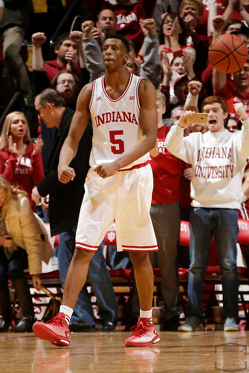 Indiana forward Troy Williams (5) as Ohio State played Indiana in an NCCA college basketball game in Bloomington, Ind., Saturday, Jan. 10, 2015. (AJ Mast)