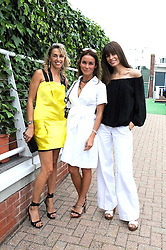 Left to right, ASIA WEBSTER, CINDY BILTON and LISA BILTON at the 3rd day of the 2008 Glorious Goodwood racing festival at Goodwood Racecourse, West Sussex on 31st July 2008.<br /> <br /> NON EXCLUSIVE - WORLD RIGHTS