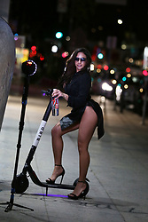 IG Superstar Ashley Ortiz shows off her sexy curvy body while shooting an advert on a Bird Scooter for 138 Water to celebrate the launch on Amazon Prime on Melrose Avenue, on February 2019. 12 Feb 2019 Pictured: Ashley Ortiz. Photo credit: FIA Pictures / MEGA TheMegaAgency.com +1 888 505 6342