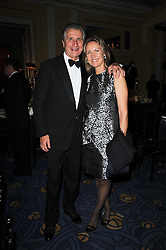ARNAUD & CARLA BAMBERGER at the Cartier Racing Awards 2009 held at Claridge's, Brook Street, London on 17th November 2009.