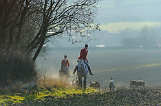 DEC 26 2013 The Cottesmore Hunt Boxing Day meet in Oakham