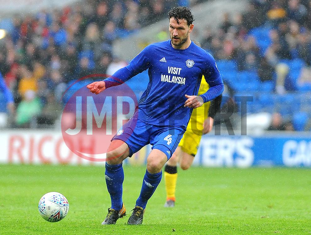 Sean Morrison of Cardiff City in action  - Mandatory by-line: Nizaam Jones/JMP- 30/03/2018 -  FOOTBALL -  Cardiff City Stadium- Cardiff, Wales -  Cardiff City v Burton Albion - Sky Bet Championship