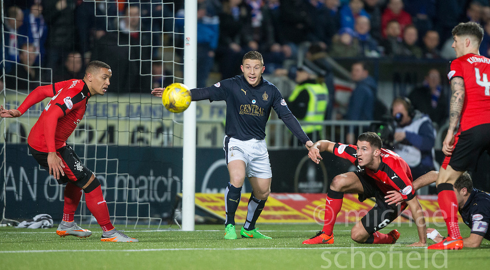 Falkirk's John Baird. <br /> Falkirk 3 v 2 Rangers, Scottish Championship game player at The Falkirk Stadium, 18/3/2016.