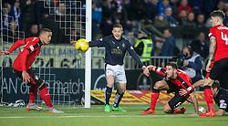 Falkirk's John Baird. <br /> Falkirk 3 v 2 Rangers, Scottish Championship game player at The Falkirk Stadium, 18/3/2016.