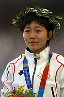 22/08/04 - MARATHON  - GREECE -  - JAPAN OLYMPIC WOMAN MARATHON  -  <br />Japanese runner N*2282 NOGUCHI MIZUKI passing for the Km. 21<br />© Gabriel Piko / Piko-Press