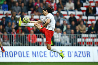 Edison Cavani of Paris SG during the French championship L1 football match between Nice and Paris Saint Germain on April 18, 2015 at the Allianz Riviera stadium in Nice, France. <br /> Photo: Manuel Blondeau / AOP Press/ DPPI