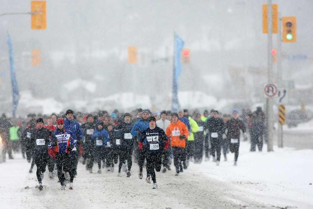 Ottawa, Canada ---22/02/09---The start of the first annual Ottawa Winterman marathon, half-marathon, and 10k. Photo copyright Sean Burges/Mundo Sport Images, 2009.