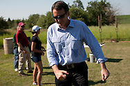 Republican presidential hopeful Tim Pawlenty campaigns on Wednesday, July 20, 2011 in Madrid, IA.