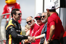 March 11, 2018 - St. Petersburg, Florida, United States of America - March 11, 2018 - St. Petersburg, Florida, USA: Sébastien Bourdais (18) gets introduced to the crowd for the Firestone Grand Prix of St. Petersburg at Streets of St. Petersburg in St. Petersburg, Florida. (Credit Image: © Justin R. Noe Asp Inc/ASP via ZUMA Wire)