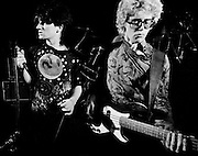 Photograph of U2 -  Adam Clayton at a rehearsal session at Shepperton Studios - 1982