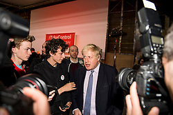 © London News Pictures. 15/04/2016. Manchester, UK.  Mayor of London BORIS JOHNSON poses for meets supporters after talking at a Vote Leave campaign event in Manchester, ahead of a referendum on Britain's membership of the EU on June 23rd, 2016. . Photo credit: Ben Cawthra/LNP