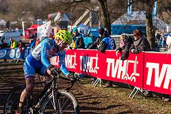 Vojtech Nipl (CZE), Men Under 23, Cyclo-cross World Championships Tabor, Czech Republic, 1 February 2015, Photo by Pim Nijland / PelotonPhotos.com