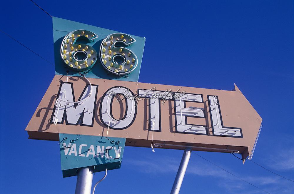 66 Motel neon sign