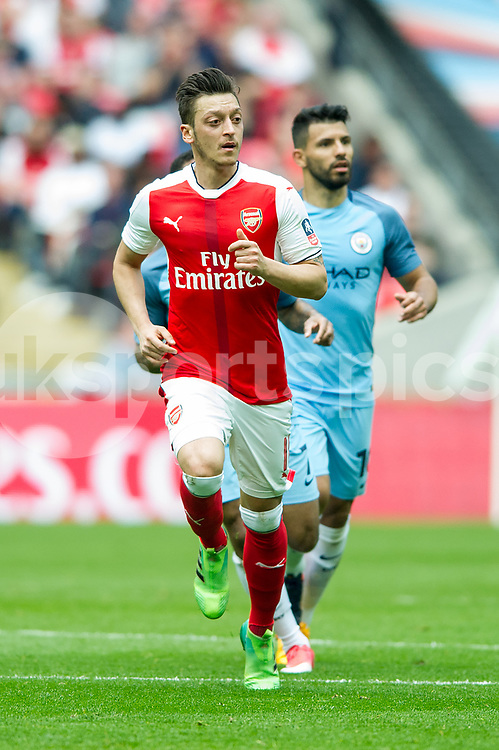 Mesut Ozil of Arsenal during the The FA Cup Semi Final match between Arsenal and Manchester City at Wembley Stadium, London, England on 23 April 2017. Photo by Salvio Calabrese.