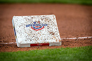 March 29, 2018 - Kansas City, MO, U.S. - KANSAS Kansas City, MO - MARCH 29: Opening day third base being replaced during the major league opening day game between the Kansas City Royals and the Chicago White Sox on March 29, 2018 at Kauffman Stadium in Kansas City, Missouri. (Photo by William Purnell/Icon Sportswire) (Credit Image: © William Purnell/Icon SMI via ZUMA Press)
