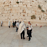 Western Wall of King Solomon's Temple is the holiest site in Judiasm. Old city, Jerusalem, Israel