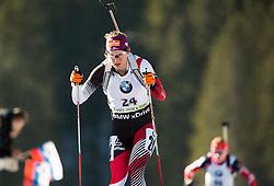 INNERHOFER Katharina (AUT) competes during Women 10 km Pursuit at day 3 of IBU Biathlon World Cup 2014/2015 Pokljuka, on December 20, 2014 in Rudno polje, Pokljuka, Slovenia. Photo by Vid Ponikvar / Sportida
