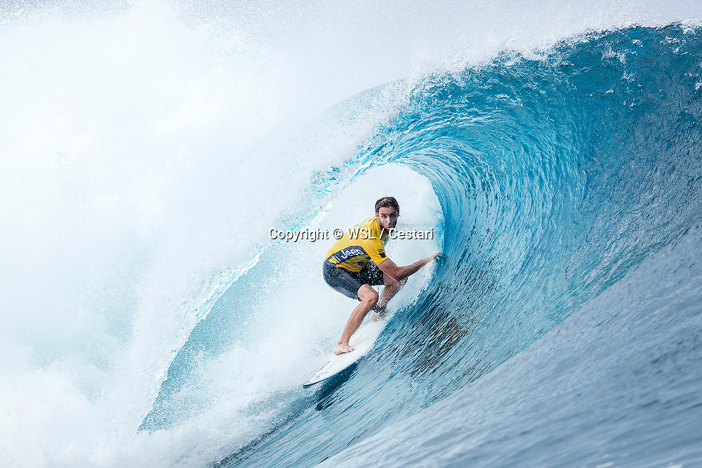 Matt Wilkinson of Australia, current No.1 on the Jeep Leaderboard finished equal 9th in the Billabong Pro Tahiti after placing second to Wiggolly Dantas of Brazil in Heat 2 of Round Five at Teahupo'o, Tahiti.