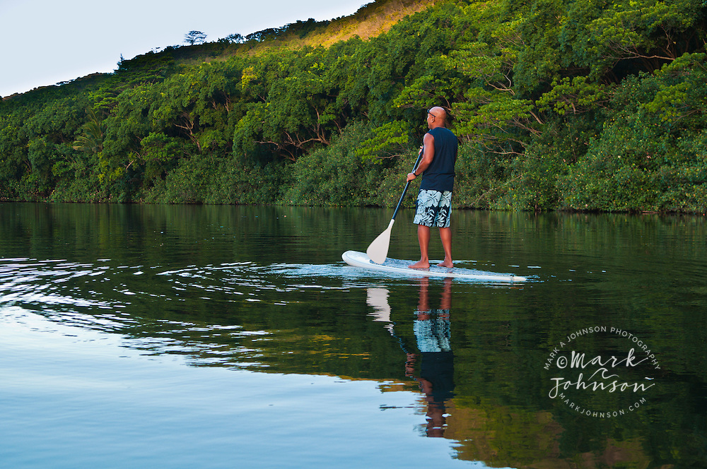 Stand-Up Paddle Boarding on the Wailua River, Kauai, Hawaii