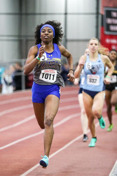 womens 400 meter, heat 2, Monroe<br /> BU John Terrier Classic <br /> Indoor Track & Field Meet