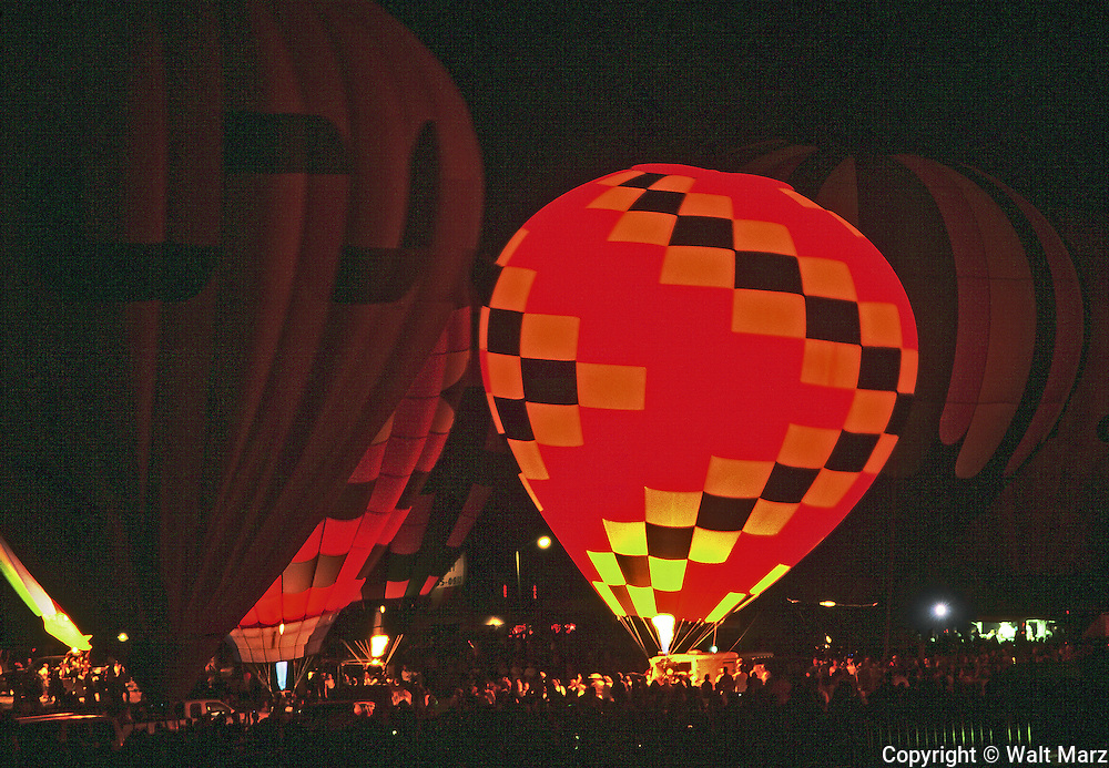 Night time at the Colorado Springs Balloon fest