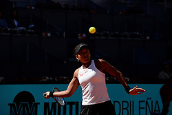 May 5, 2019 - Madrid, Spain - Naomi Osaka of Japan in her match against Dominika Cibulkova of Slovakia during day two of the Mutua Madrid Open at La Caja Magica in Madrid on 5th May, 2019. (Credit Image: © Juan Carlos Lucas/NurPhoto via ZUMA Press)