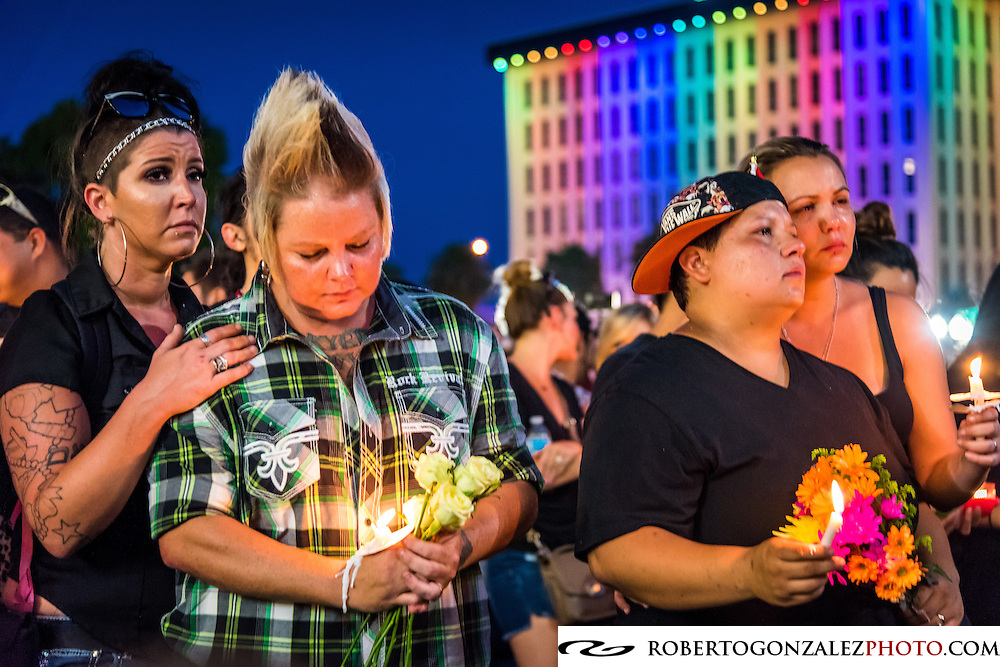 candle light vigil for shooting victims in orlando editorial