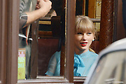 01.OCTOBER.2012. PARIS<br /> <br /> AMERICAN COUNTRY MUSIC STAR TAYLOR SWIFT IS SEEN LEAVING HER HOTEL BEFORE HEADING TO LA PALETTE RESTAURANT TO SHOOT PART OF HER NEW MUSIC VIDEO IN PARIS.<br /> <br /> BYLINE: EDBIMAGEARCHIVE.CO.UK<br /> <br /> *THIS IMAGE IS STRICTLY FOR UK NEWSPAPERS AND MAGAZINES ONLY*<br /> *FOR WORLD WIDE SALES AND WEB USE PLEASE CONTACT EDBIMAGEARCHIVE - 0208 954 5968*