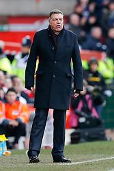 West Ham Manager Sam Allardyce looks on - Photo mandatory by-line: Rogan Thomson/JMP - 07966 386802 - 25/01/2015 - SPORT - FOOTBALL - Bristol, England - Ashton Gate Stadium - Bristol City v West Ham United - FA Cup Fourth Round Proper.