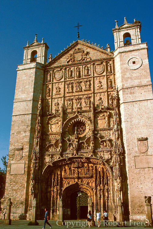 SPAIN, CASTILE, VALLADOLID San Pablo Church, St. Paul's facade
