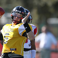 Quarterback Jeff Driskell during the practice session at the Walt Disney Wide World of Sports Complex in preparation for the Under Armour All-America high school football game on December 3, 2011 in Lake Buena Vista, Florida. (AP Photo/Alex Menendez)