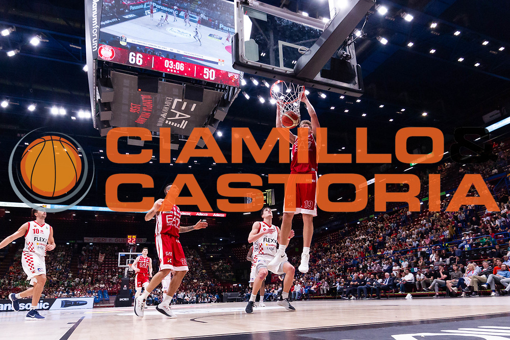 Mindaugas Kuzminskas<br /> EA7 Olimpia Milano - The Flexx Pistoia<br /> Legabasket Serie A 2017/18<br /> Milano, 06/05/2018<br /> Foto MarcoBrondi / Ciamillo-Castoria